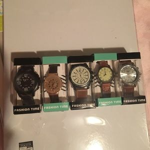 5 pieces, Unisex watches.